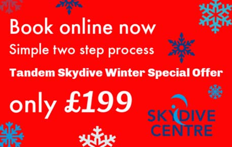£199 Tandem Skydiving Offer