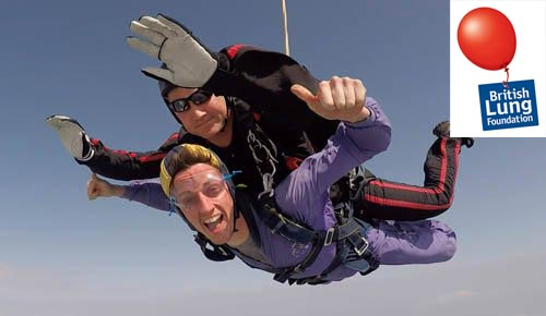 british lung foundation charity skydiving